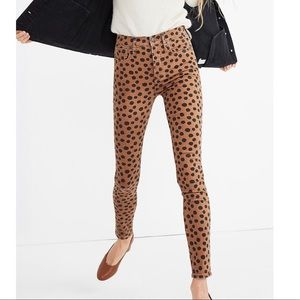 NWT Madewell High Rise Skinny Jeans in Leopard Dot
